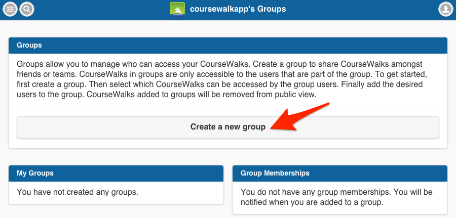 Create a new group