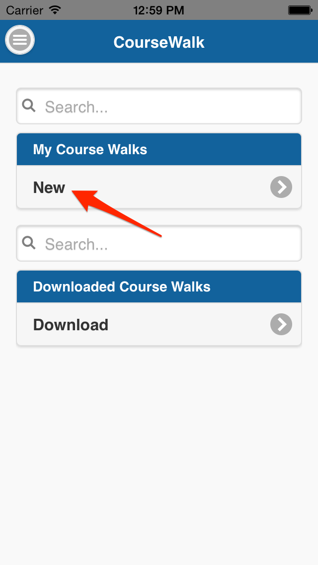 Add a new course walk