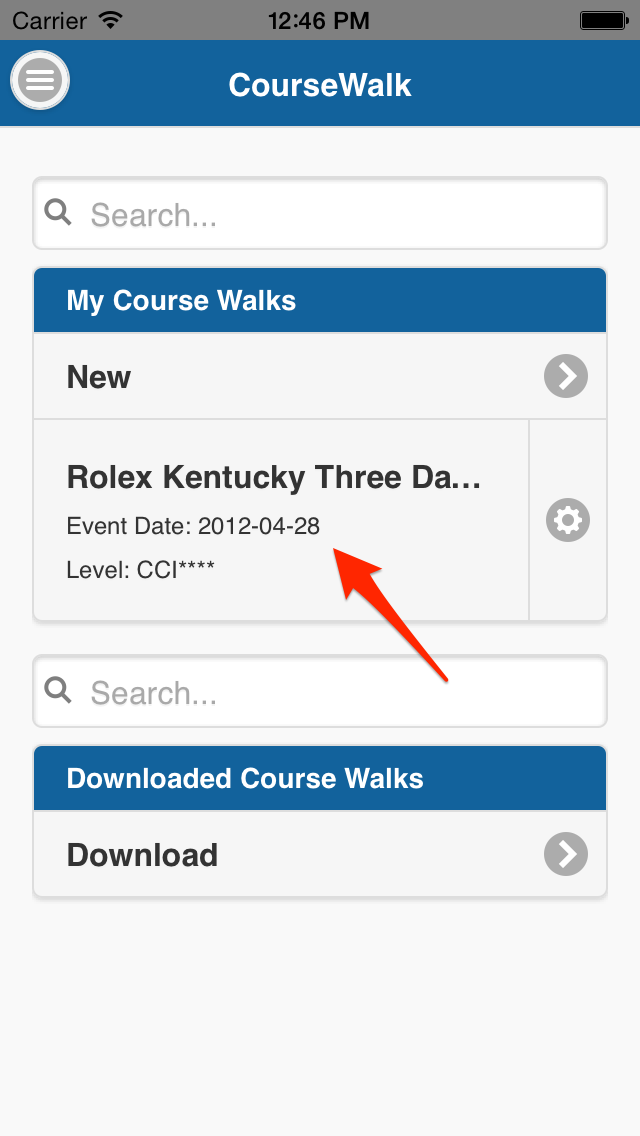 Open your course walk
